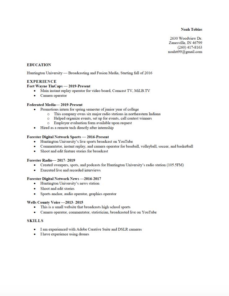Resume SS